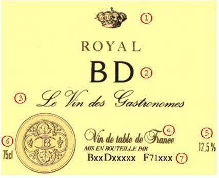 cách đọc nhãn chai rượu vang Pháp