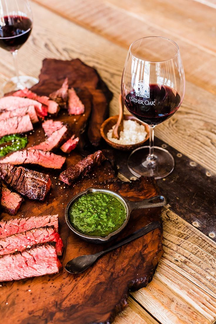 Flank Steak & Salsa Verde Silver Oak Wine & Food Recipe Silver Oak Cellars